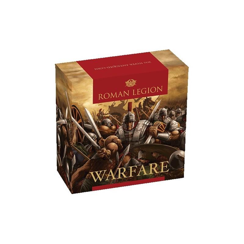 2018 $2 Warfare - Roman Legion 2oz Silver High Relief Antiqued Coin
