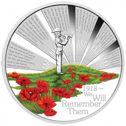 2018 $1 The ANZAC Spirit 100th Anniversary - We Will Remember Them 1oz Silver Proof Coin