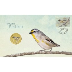 2013 $1 Striated Pardalote Coin & Stamp Cover PNC