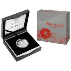 2018 $1 Armistice Centenary Fine Silver 1oz Proof Coin