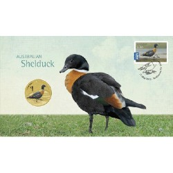 2013 $1 Australian Waterbirds Shelduck Coin & Stamp Cover PNC