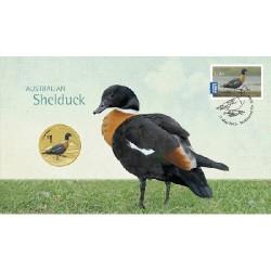 2013 $1 Australian Waterbirds Shelduck Coin & Stamp Cover PNC