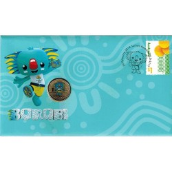 2018 $1 XXI Commonwealth Games - Borobi Coin & Stamp Cover PNC
