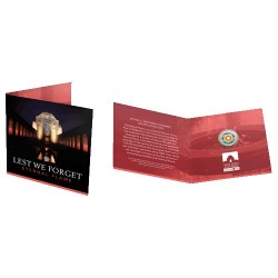 2018 $2 Lest We Forget - Eternal Flame  C Mintmark Coloured Uncirculated Coin in RAM Card