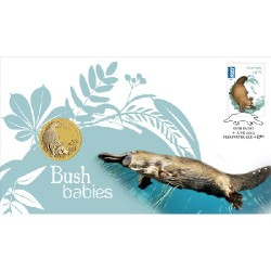 2013 $1 Bush Babies II Platypus Coin & Stamp Cover PNC