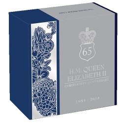 2018 $1 65th Anniversary of the Coronation of Her Majesty Queen Elizabeth II Silver Proof Coin