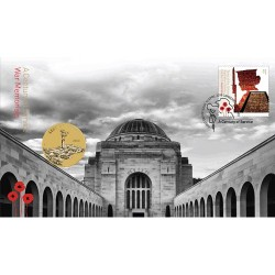 2018 $1 Lest We Forget Armistice - A Century of Service War Memorial  Coin & Stamp Cover PNC