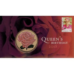 2018 H.M. Queen Elizabeth II Birthday Medallion & Stamp Cover PNC