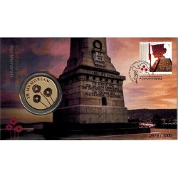 2018 Lest We Forget Armistice - A Century of Service War Memorial  Medallion & Stamp Cover PNC