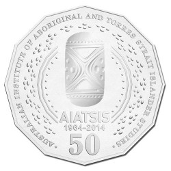2014 50c 50th Anniversary AIATSIS Non-Coloured Unc Coin