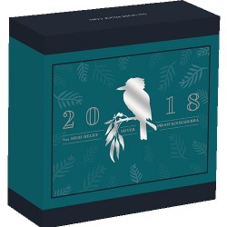 2018 $8 Australian Kookaburra 5oz High Relief Silver Proof Coin