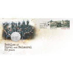 2018 50c Coral & Balmoral - Battle of the Fire Support Bases Coin & Stamp Cover PNC