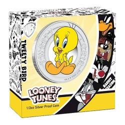 2018 50c Looney Tunes - Tweety Bird 1/2oz Silver Proof Coin