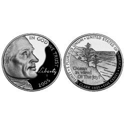 2005 USA Nickel Ocean in View P Mint Unc Coin in 2x2