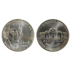 2006 USA Return to Monticello Nickel P Mint Unc Coin in 2x2