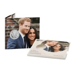 2018 GB £5 Prince Harry & Meghan Markle Royal Wedding BU Coin