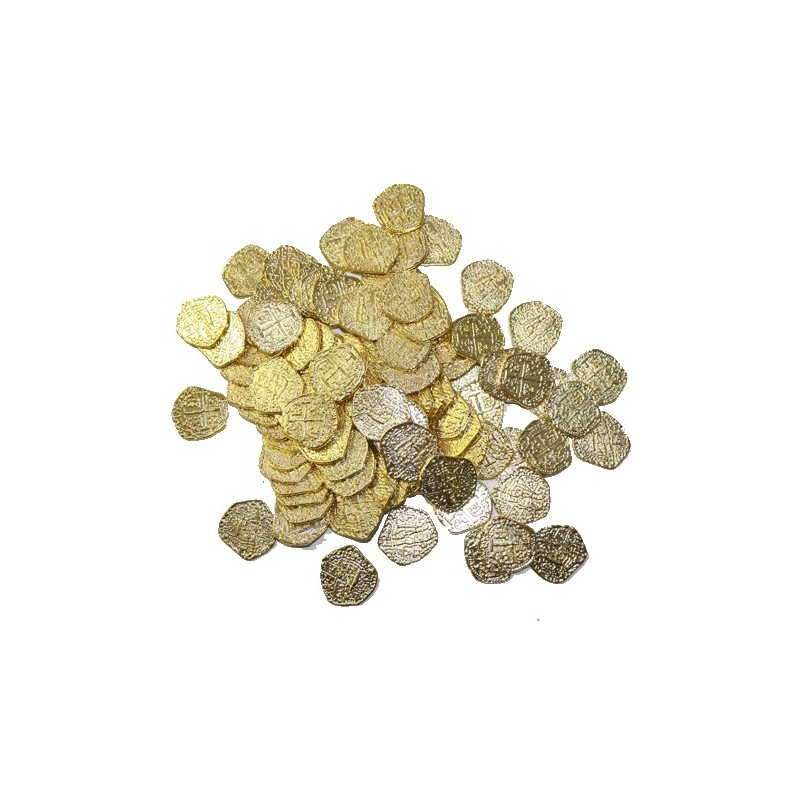 Pirate Gold Metal Doubloon Pieces of Eight Each