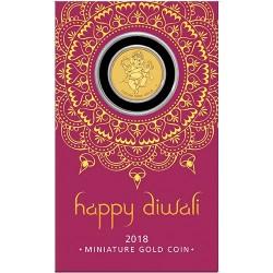 2018 $4 Diwali Festival 1g Gold Coin