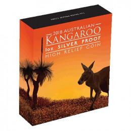 2018 $1 Australian Kangaroo 1oz Silver Proof High Relief Coin