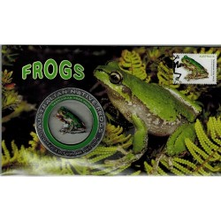 2018 Australian Native Frogs Limited Edition Medallion & Stamp Cover PNC