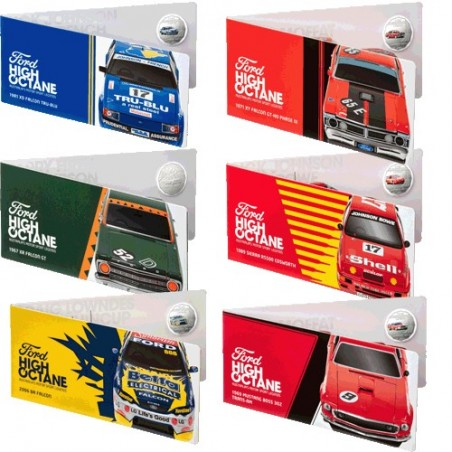 2018 50c Ford Motorsport 6 Coin Collection Cards Only