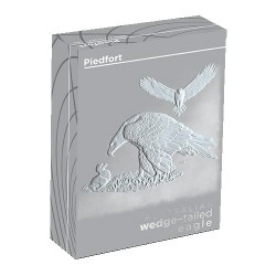 2018 $2 Australia Wedge Tailed Eagle 2oz Silver Proof Piedfort Coin