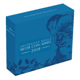 2018 $1 Australian Koala High Relief 1oz Silver Proof Coin