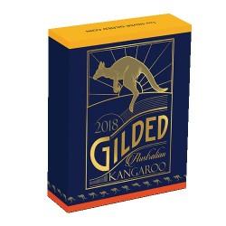 2018 $1 Australian Kangaroo 1oz Silver Gilded Edition