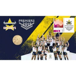 2015 $1 Telstra NRL Premiers Cowboys Coin & Stamp Cover PNC