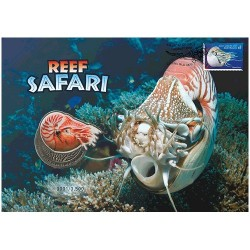 2018 Reef Safari Nautilus Limited Edition Medallion & Stamp Cover PNC