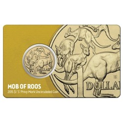 2015 $1 Sydney ANDA Show Mob of Roos S Privy Mark Uncirculated Coin in Card
