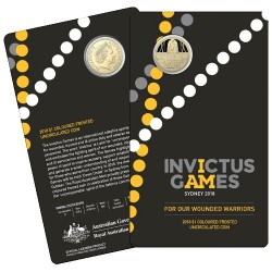 2018 $1 Invictus Games Sydney 2018 Coloured Frosted Uncirculated Coin