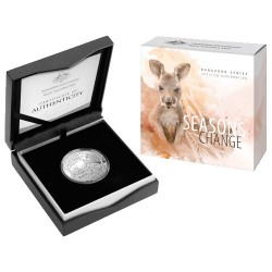 2019 $1 Kangaroo Series - Seasons Change Autumn 1oz Silver Proof Coin