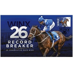 2018 Winx 26 Record Breaker - 26 Consecutive Race Wins First Day Cover