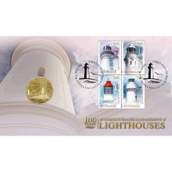 2015 $1 100 Years of Commonwealth Management of Lighthouses Coin & Stamp Cover PNC