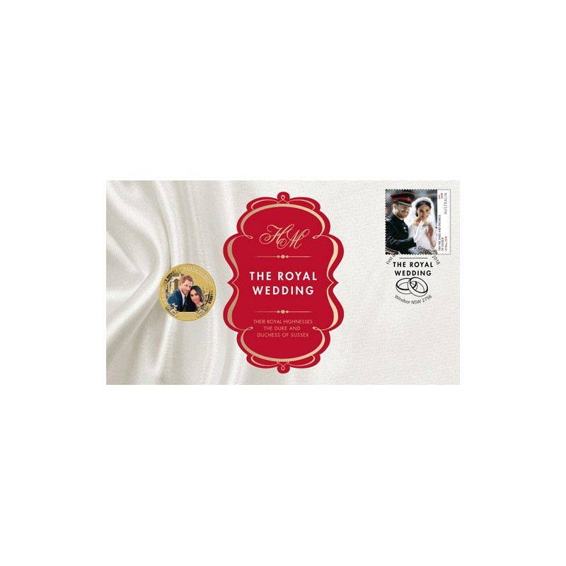 2018 $1 Royal Wedding Coin & Stamp Cover PNC - HRH Prince Henry of Wales & Ms Meghan Markle
