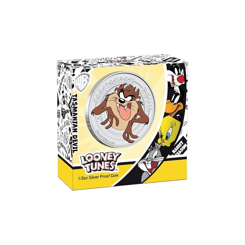 2018 50c Looney Tunes - Tasmanian Devil 1/2oz Silver Proof Coin