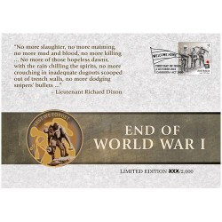 2018 Centenary End of World War I Limited Edition Medallion Cover