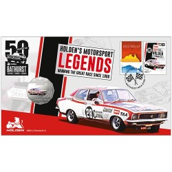 2018 50c 1972 Holden LJ Torana XU-1 Coin & Stamp Cover PNC