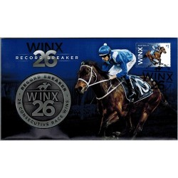 2018 Winx 26 Record Breaker - 26 Consecutive Race Wins Medallion & Stamp Cover PNC