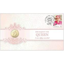 2019 $1 The Sixth Effigy Jody Clark & Ian Rank-Broadley Double Effigy Coin & Stamp Cover PNC