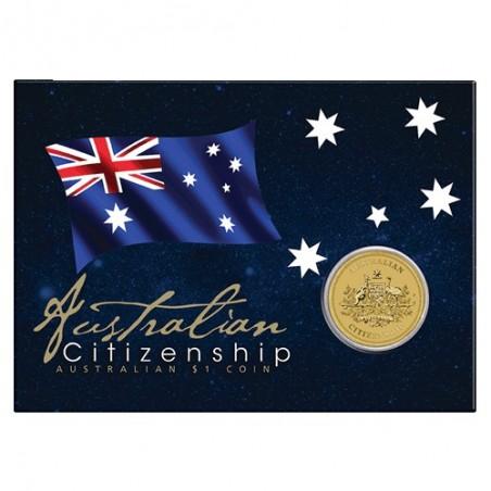 2019 $1 Australian Citizenship Uncirculated Coin in Card