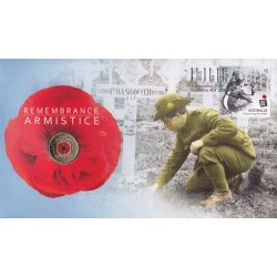 2018 $2 Remembrance Day Armistice Centenary C Mintmark Coin & Stamp Cover PNC