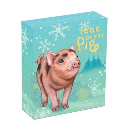 2019 50c Baby Pig 1/2oz Silver Proof Coin