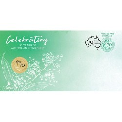 2019 $1 70 Years of Australian Citizenship Coin & Stamp Cover PNC