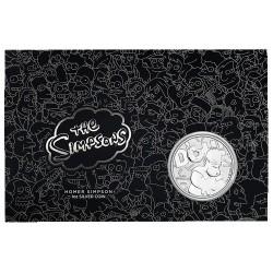 2019 $1 Homer Simpson 1oz Silver Coin in Card