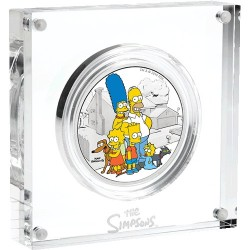 2019 $2 The Simpsons - Family 2oz Silver Proof Coin