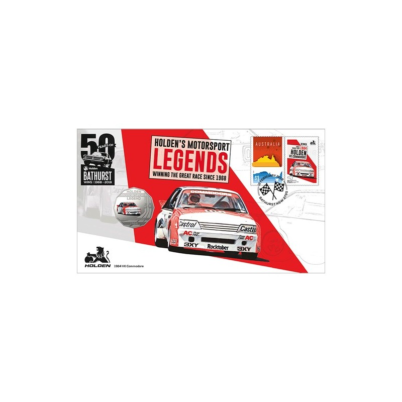 2018 50c 1984 Holden VK Commodore Coin & Stamp Cover PNC