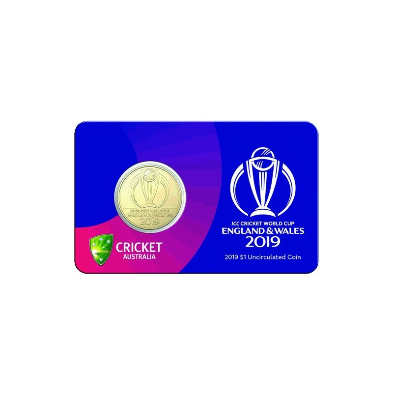2019 $1 ICC Cricket World Cup Al/Br Uncirculated Coin in Card
