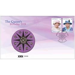 2019 H.M. Queen Elizabeth II Birthday Medallion & Stamp Cover PNC